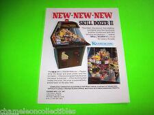 SKILL DOZER II + SUPERSTAR BASKETBALL By KRAMER ORIGINAL ARCADE GAME SALES FLYER