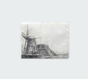 THE WINDMILL B 233 Special Rare Engraving After Rembrandt By Amand-Durand Mint