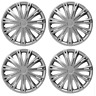 VAUXHALL VIVARO WHEEL TRIMS HUB CAPS PLASTIC COVERS FULL SET OF 4 16 INCH SILVER