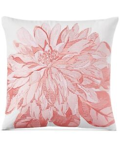 """Charter Club 16"""" Square Decorative Pillow Embroidered Floral 158"""