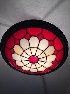 "Tiffany Style Uplighter Ceiling Light Shade (14"")"