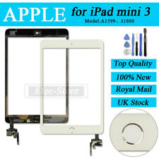 White Screen For iPad mini 3 Touch Digitizer Replacement With Silver Home Button