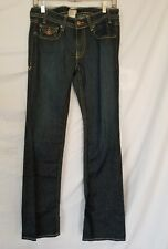 Denim Of Virtue Dark Blue Jeans Low Rise Tag Size 29 Actual 31