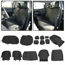 Black Front Rear Seat Covers for 2016-2020 Toyota Tacoma Double Cab