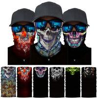 Half Skull Face Mask Skeleton Balaclava Neck Warmer Biker Tube Ski Scarf Cycling