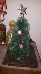 VINTAGE Retro small plastic christmas tree base xmas decoration glitter