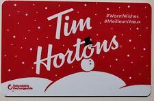 20?? TIM HORTONS SNOWMAN #WarmWishes/#MeilleursVoeux GIFT CARD ~FREE ship ~$0