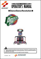 Dance Dance Revolution DDR Operations/Service/Manual-Video Arcade Machine     TB