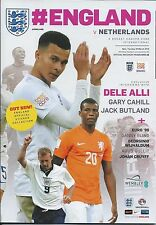 ENGLAND v NETHERLANDS 2016 FRIENDLY - MINT PROGRAMME