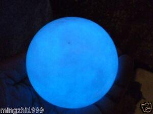 70mm +Stand  Glow White Jade Stone Glow In The Dark Stone Ball China
