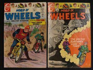 Charlton Comics World of Wheels #17, 26 1967-1969 Lot of 2
