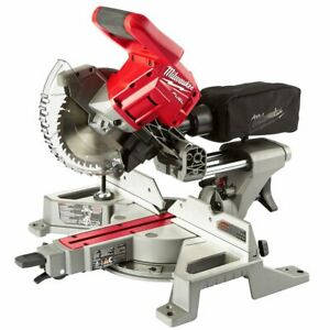 "Milwaukee 2733-20 M18 FUEL 18V 7-1/4"" Dual Bevel Sliding Miter Saw - Bare Tool"