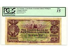 New Zealand ... P-S372a ... 1 Pound ... 1923 ... *F*. PCGS 15 (F).