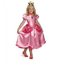 Super Mario Bros - Princess Peach Deluxe Child Costume