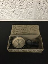 Vintage Compass Magnifying Glass Mirror Compact Travel Tool - Germany