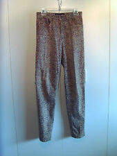ROBERTO CAVALLI Vintage Multi Color Jeans Sz Sm Made Italy Brown Tan VGUC!