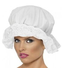 Fancy Dress Victorian Maid Mop Cap Elasticated White One Size by Smiffys New
