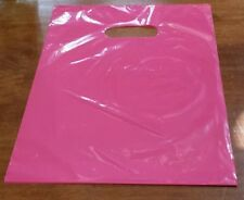 200 PINK 9 x 12 PLASTIC MERCHANDISE SHOPPING PARTY BAGS