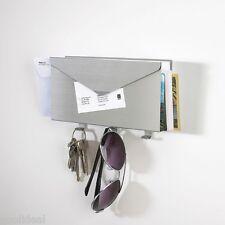 Umbra LETTRO Wall Mount Aluminum Key Mail Letter Holder Organizer Rack Hanger