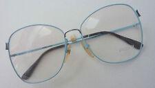 Frames Ladies 80's Vintage Glasses Light Blue Very Large Glasses 80s Size M