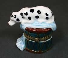 Herco Hinged Porcelain Trinket Box Dalmation NIB
