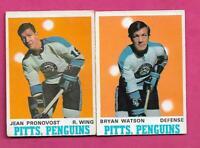 1970-71 OPC PENGUINS JEAN PRONOVOST + BRYAN WATSON GOOD CARD (INV# C7628)