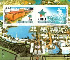 CHILE, EXPO SEVILLA 92, SOUVENIR SHEET, MNH, YEAR 1992, BLOCK N° 56.-