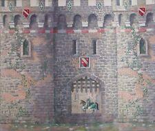 York Stone & Brick Castle Wallpaper Border - RK6810B