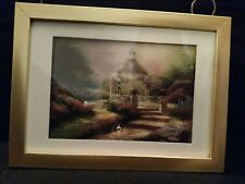 The Hidden Gazebo by Thomas Kinkade in 5.5x7.5 Wall/Tabletop Gold Matte Frame