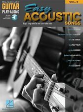 Guitar Play-Along Easy Acoustic Songs Learn to Play TAB MUSIC BOOK Online Audio