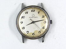 Vintage 17 j ETERNA MATIC Swiss AUTOMATIC mens watch STAINLESS parts/repair