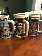 BUDWEISER COLLECTOR STEINS GRANTS FARM HOLIDAY 1998, 1997, 1995