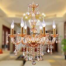 Homdox Modern 6 Light Crystal Chandelier Ceiling Lamp Pendant Fixture Lighting