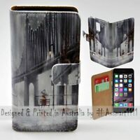 For Apple iPhone Series - Rain Over Bridge Theme Print Mobile Phone Case Cover