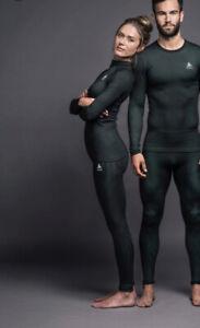 Odlo Zaha Hadid Futureskin Base Layer Top Green (Size L)