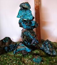 New listing Blue Aquarium Rock Natural Stacking Chrysocolla Stone of Communication #A199