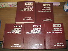 Motor Manual Import Component Locator Manuals Set 89 90 91 92 -00 Acura Audi Bmw