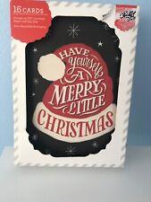 Christmas Cards 16 Cards Santa Hat Merry Christmas