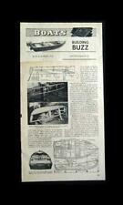 11' Hydroplane Runabout 1949 HowTo build PLANS Light enough for Car Top