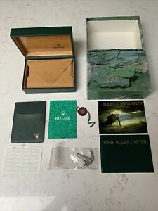 Rolex Box 68.00.55 Submariner 16610 with Oyster Booklets Anchor & Wallet