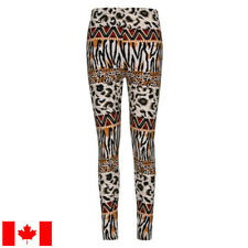 Animal Mashup extra soft leggings - S-M - safari leopard africa ethnic tiger fit