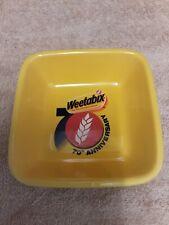 70th Anniversary Weetabix Yellow Square Bowl 1990s