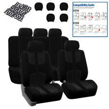 Universal Black 5 Sits Seat Cover Set Four Seasons Cushion Pad For Car Truck SUV