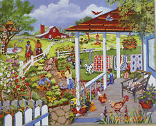 .PUZZLE...JIGSAW....RUSINKO...Airing Out The Quilts..500pc....Sealed...