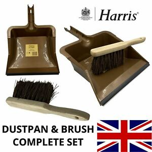 Harris Dustpan Brush Garden Outdoor Home Hand Brush Pan Set Stiff Hard Bristle