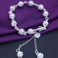 Fashion Bangle Jewellery Lady 925 Sterling Silver Bracelet Women Bangle Chain