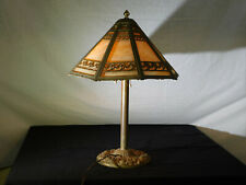 Miller Co.,c1900-1925 8 Panel Slag Glass #956 Table Lamp Working Condition.