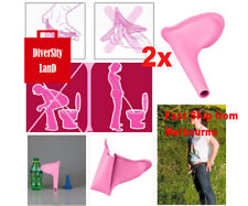 2x Women Urinal Outdoor Travel Camping Portable Female Urinal Funnel Silicone