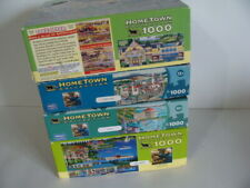 LOT OF 4 Hometown Collection 1000 Pc Puzzles -Adirondacks-Scotty's Castle-Catali