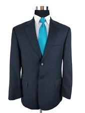 Pronto Uomo Sport Coat Blazer 2 Button Suit Jacket Charcoal Gray Wool Mens 40S